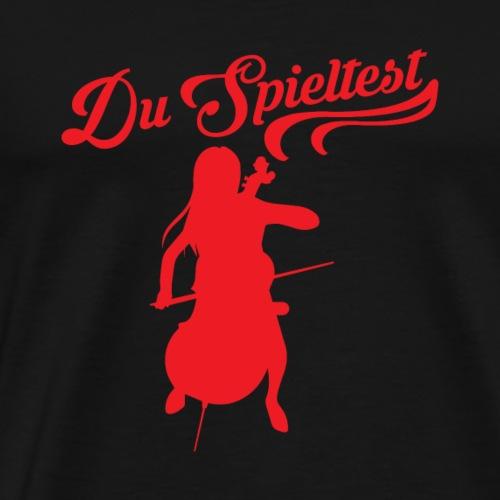 Cello rot - Männer Premium T-Shirt