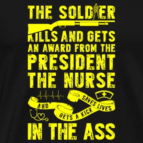 Soldaten werden ausgezeichnet - Krankenschwestern - Männer Premium T-Shirt