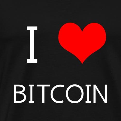I love Bitcoin - Männer Premium T-Shirt