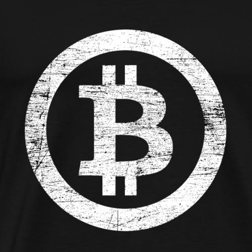Bitcoin Symbol Vintage #3 - Männer Premium T-Shirt