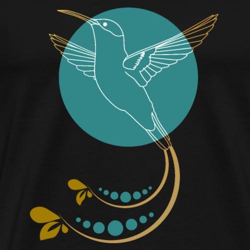 Goldener Kolibri mit Ornamente - Männer Premium T-Shirt