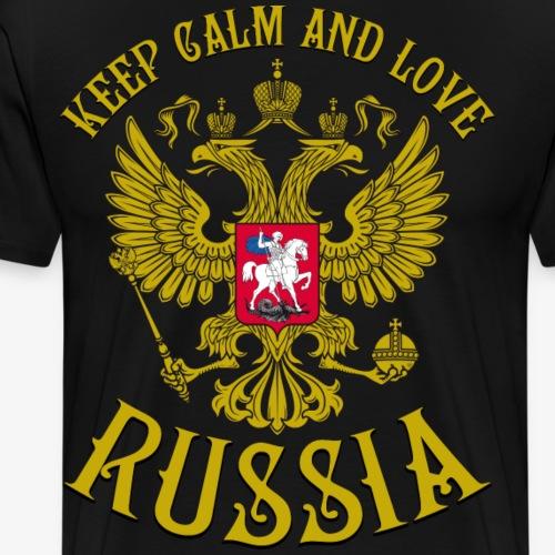 123 Keep Calm and love Russia Russland Rossia - Männer Premium T-Shirt