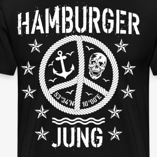 96 Hamburger Jung Peace Friedenszeichen Seil - Männer Premium T-Shirt