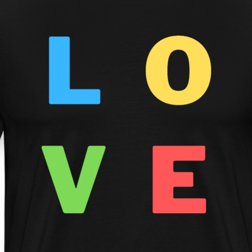 Love, Liebe, Colourful | Tee with a cause - Männer Premium T-Shirt