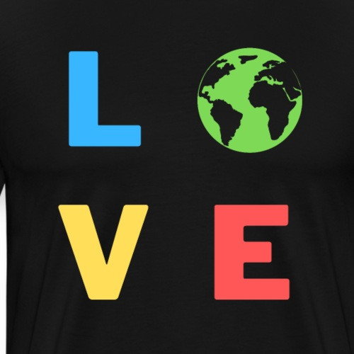 Love Earth, Liebe, Planet | Tee with a cause - Männer Premium T-Shirt