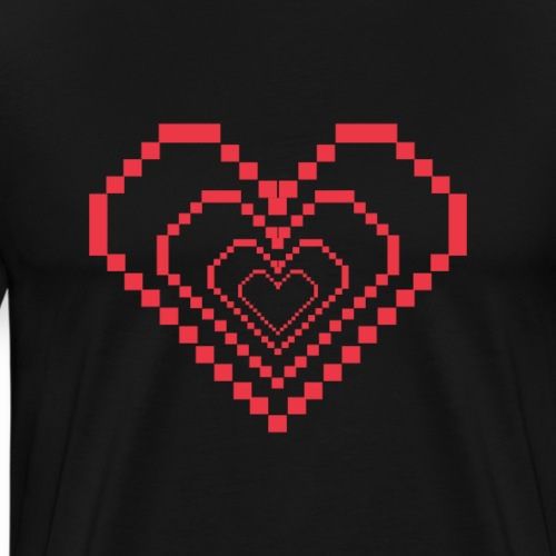Gamer Heart Herz | Tee with a cause - Männer Premium T-Shirt