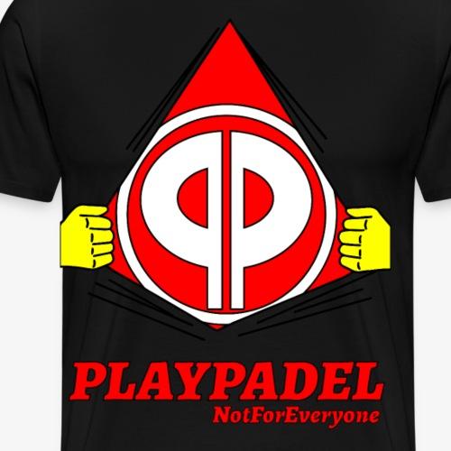 PLAYPADELGashWhiteOn - Maglietta Premium da uomo