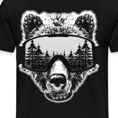 bear snow - Men's Premium T-Shirt