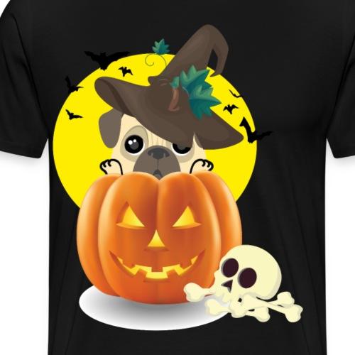 pumpkin dog - Men's Premium T-Shirt