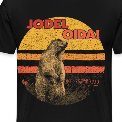 JODEL OIDA - Murmeltier - Geschenk - Männer Premium T-Shirt