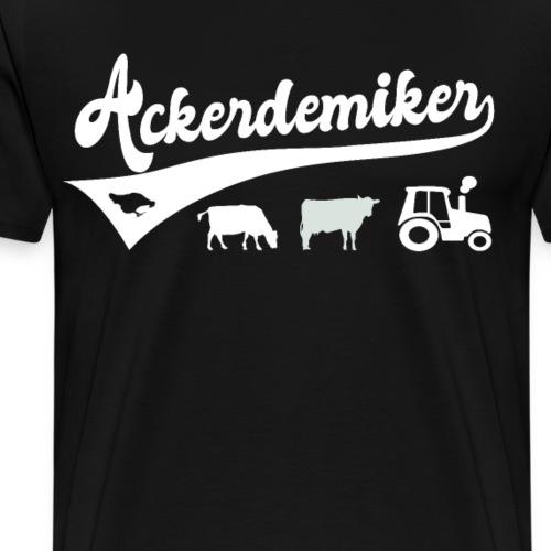 Ackerdemiker Lustiges Landwirte Bauern Design - Männer Premium T-Shirt
