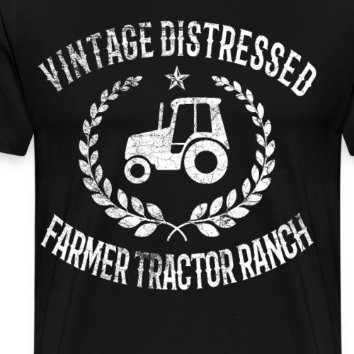 Landwirt - Traktor Vintage Retro Bauer Bauerhof - Männer Premium T-Shirt