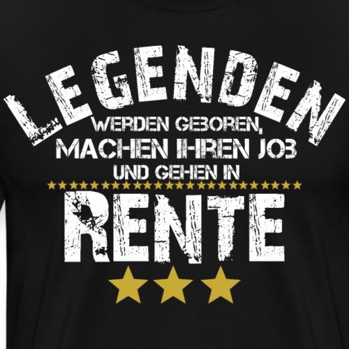 Legende Pension Rente Rentner Geschenk Ruhestand - Männer Premium T-Shirt