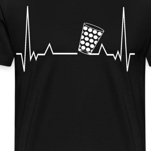 Heartbeat Dubbeglas Herzschlag Schorle Geschenk - Männer Premium T-Shirt