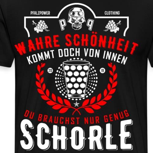 Pfälzer Wahre Schönheit Schorle Dubbeglas - Männer Premium T-Shirt