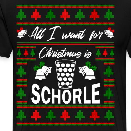 Ugly Christmas Schorle Pfälzer Weinschorle - Männer Premium T-Shirt
