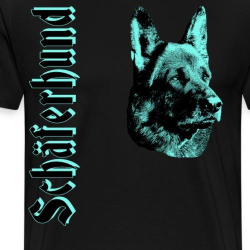 Schäferhund,Schäferhunde,Hundesport,Hundekopf,Dogs - Männer Premium T-Shirt