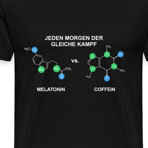 Chemie Melatonin vs Coffein - Männer Premium T-Shirt