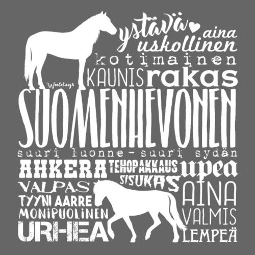 Suomenhevonen Sanat V - Miesten premium t-paita
