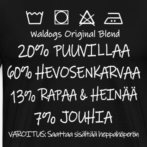 Heppahöperö Blend II - Miesten premium t-paita