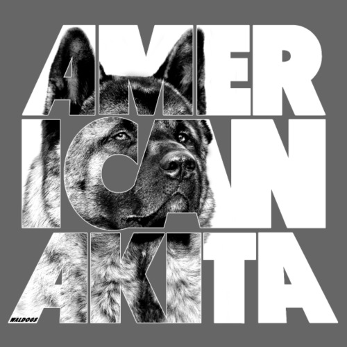 American Akita V - Miesten premium t-paita