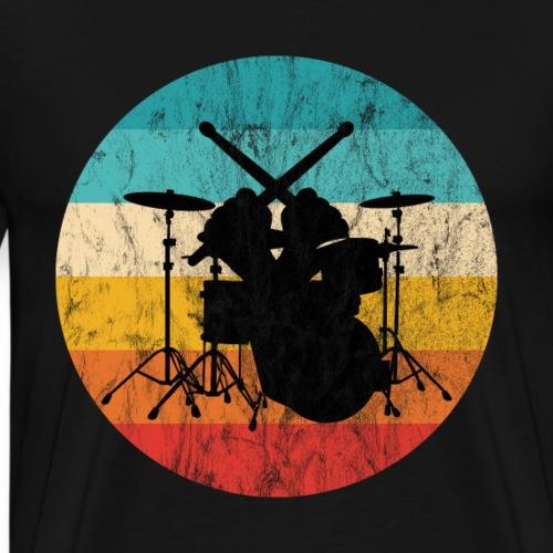Schlagzeug Drumsticks crossed Schlagzeuger - Männer Premium T-Shirt