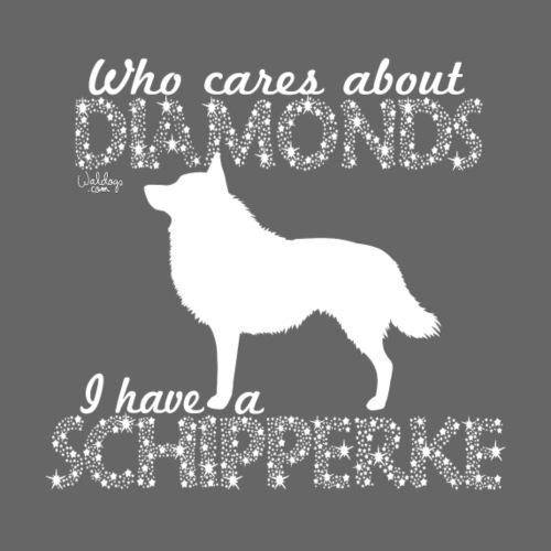 Schipperke Diamonds I - Miesten premium t-paita