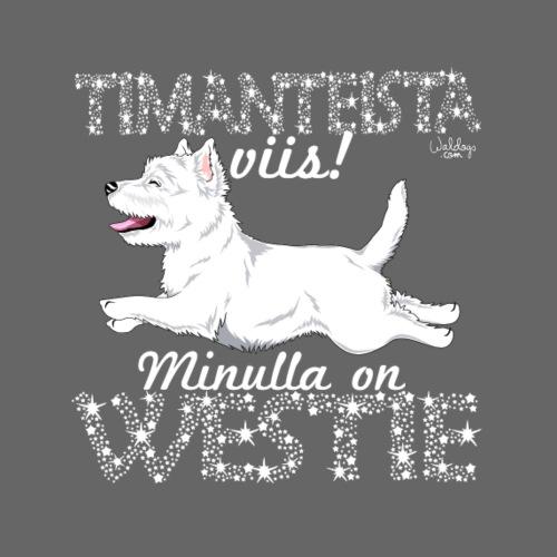 Westie Timantti I - Miesten premium t-paita