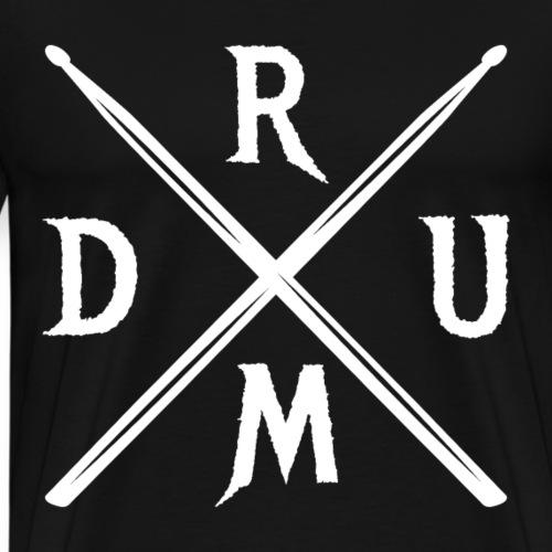 DRUM gekreuzte Drumsticks coole Schlagzeuger - Männer Premium T-Shirt