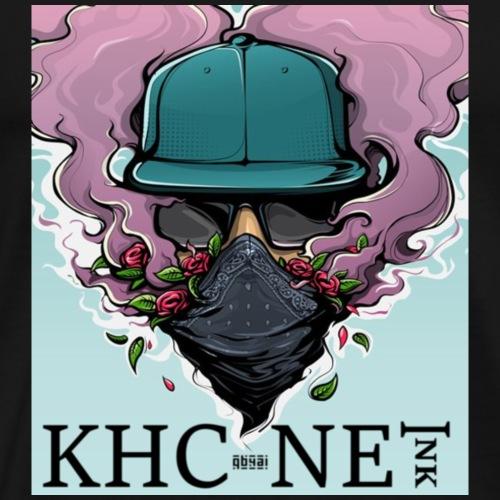 KHC-NET ink (smoke-man) - Premium T-skjorte for menn