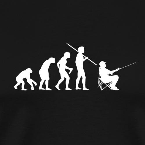 Evolution Angeln (Weiß) - Männer Premium T-Shirt