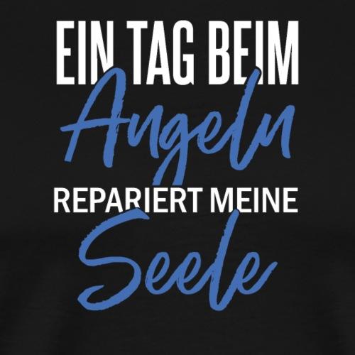 Tag beim Angeln repariert die Seele (Weiß / Blau) - Männer Premium T-Shirt