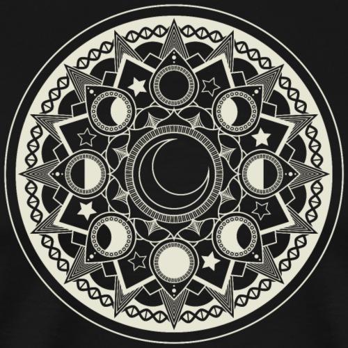 Mondmandala (hell) - Männer Premium T-Shirt