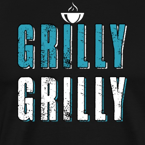 Grilly Grilly Funny BBQ Grill - Männer Premium T-Shirt