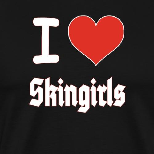 I love Skin girls Renee Skinhead Herz T-Shirt - Männer Premium T-Shirt