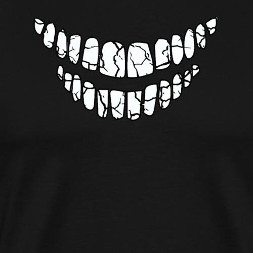 Lustiges Gesicht Zähne Humor Lachen Fun Shirt - Männer Premium T-Shirt