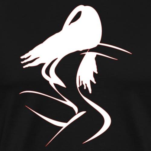 Frau erotisch sexy Linien Line out Motiv - Männer Premium T-Shirt