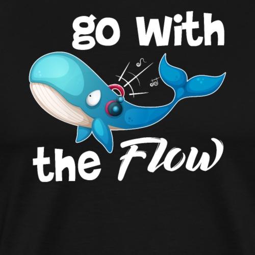 Whale Go With The Flow - Männer Premium T-Shirt