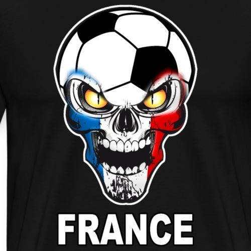 Football Skull France 03 - Men's Premium T-Shirt