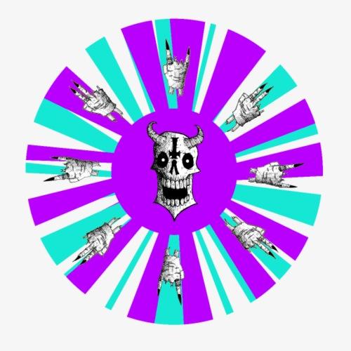 The Wheel (Purple and Tourquoise) - Men's Premium T-Shirt