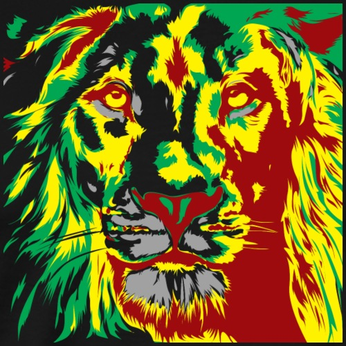 Rasta Lion - Red Gold Green - Männer Premium T-Shirt