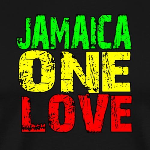 REGGAE - JAMAICA ONE LOVE - Männer Premium T-Shirt