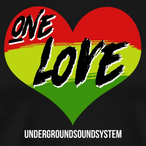 ONE LOVE - HEART - Männer Premium T-Shirt