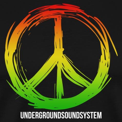 PEACE by UNDERGROUNDSOUNDSYSTEM - Männer Premium T-Shirt