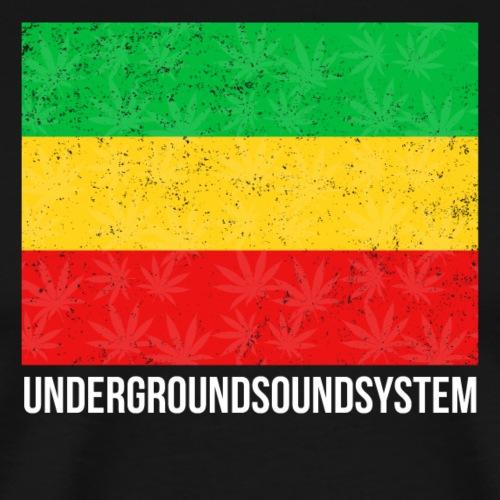 RED GOLD and GREEN Reggae Banner - Männer Premium T-Shirt
