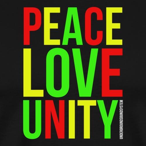 PEACE LOVE UNITY - Männer Premium T-Shirt