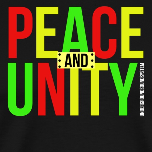 PEACE AND UNITY - Männer Premium T-Shirt