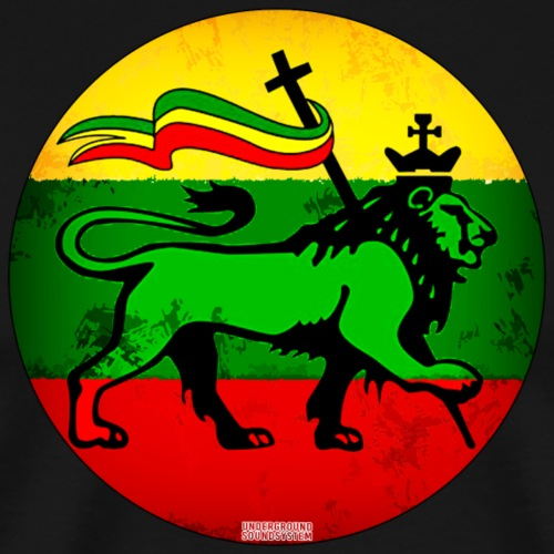 Conquerin Lion with the Tribe of Judah - Männer Premium T-Shirt
