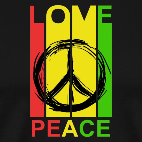LOVE PEACE - Männer Premium T-Shirt
