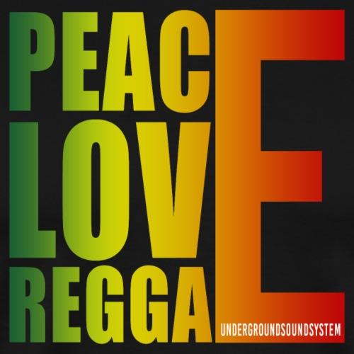 PEACE LOVE REGGAE - Männer Premium T-Shirt